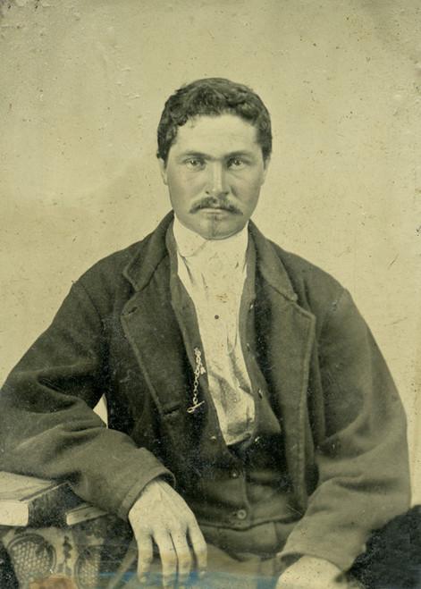 Art Prints of Portrait of Jose, Tintype 14, Vintage Tintype