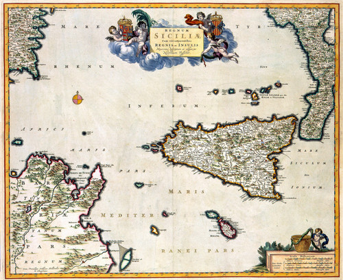 Art Prints of Island of Sicily, 1681 (493) by Visscher