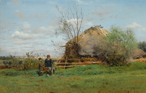 Art Prints of Early Autumn in the Village by Vladimir Egorovich Makovsky