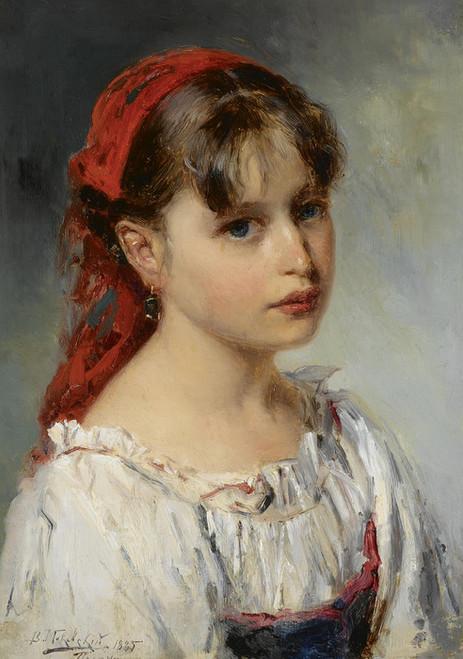 Art Prints of Portrait of an Italian Girl by Vladimir Egorovich Makovsky