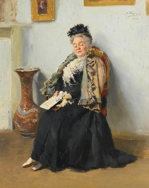 Art Prints of Portrait of a Nobelwoman by Vladimir Egorovich Makovsky