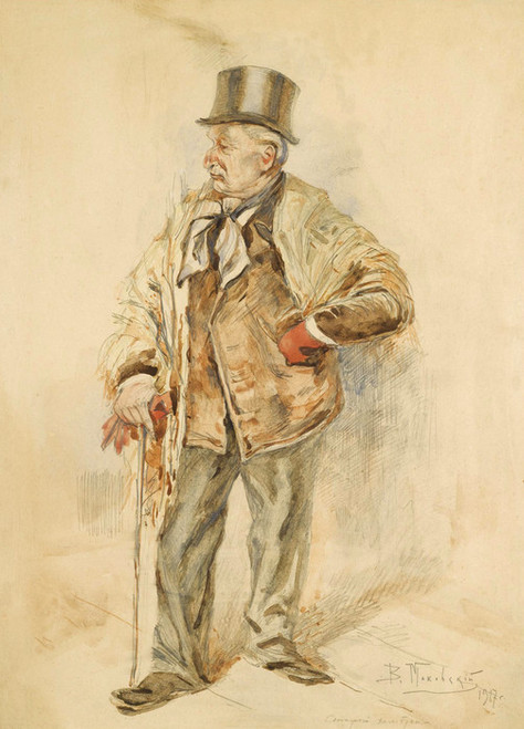 Art Prints of The Old Bachelor by Vladimir Egorovich Makovsky