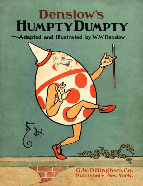 Art Prints of Humpty Dumpty, Cover by W.W. Denslow, Children's Book
