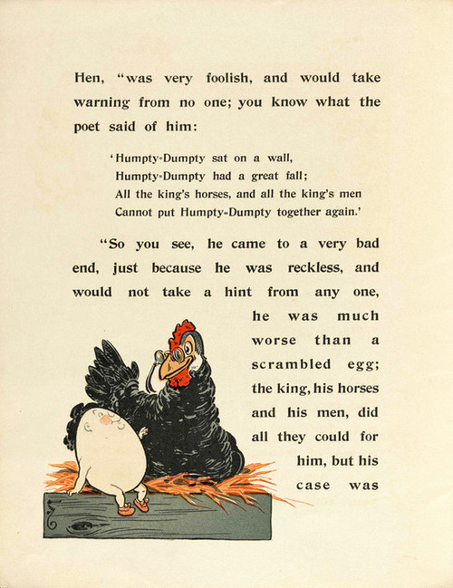 Art Prints of Humpty Dumpty, Page 4 by W.W. Denslow, Children's Book