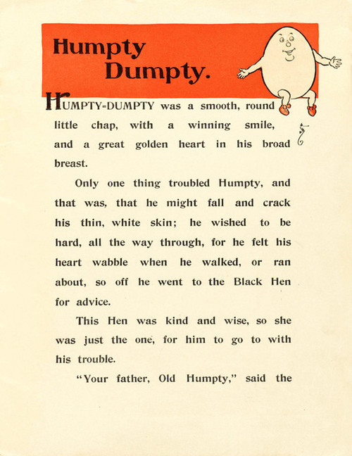 Art Prints of Humpty Dumpty, Page 3 by W.W. Denslow, Children's Book