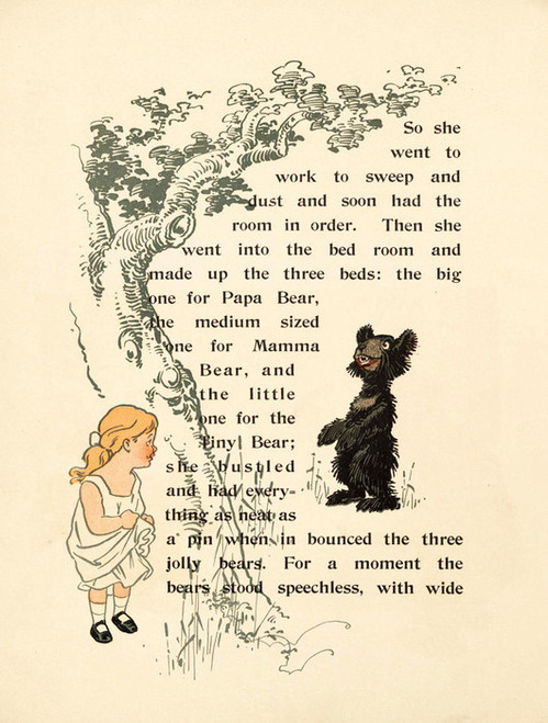 Art Prints of The Three Bears, Page 6 by W.W. Denslow, Children's Book