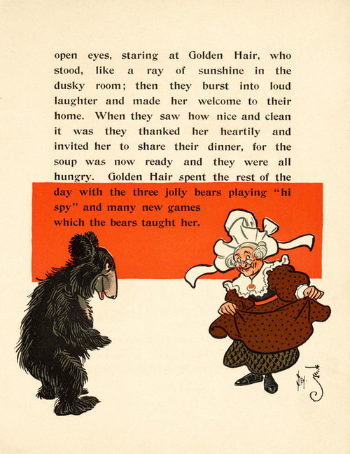 Art Prints of The Three Bears, Page 7 by W.W. Denslow, Children's Book