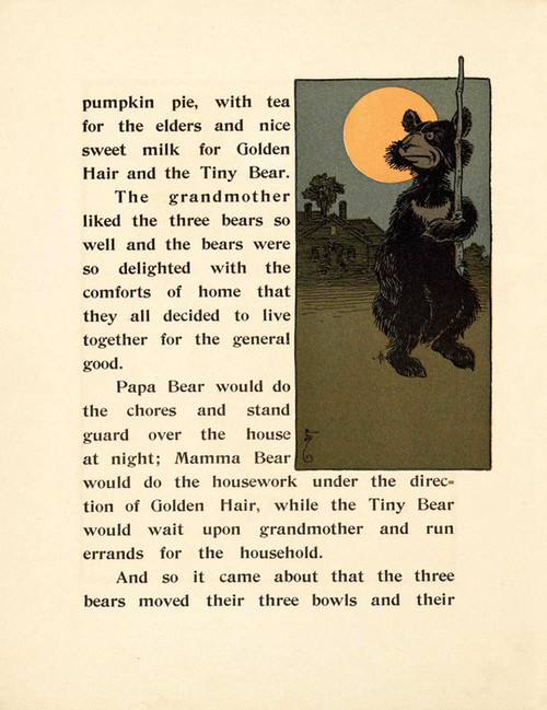 Art Prints of The Three Bears, Page 12 by W.W. Denslow, Children's Book
