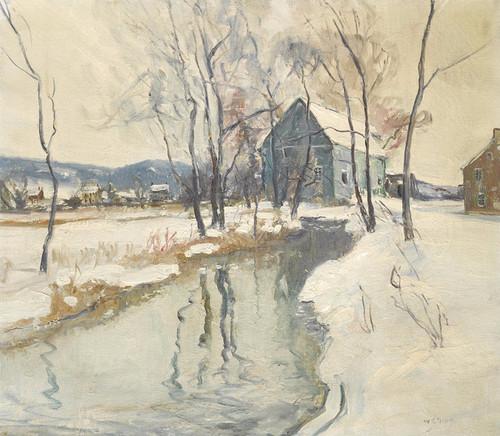 Art Prints of Mill at Hellertown by Walter Baum