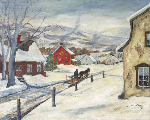 Art Prints of A Snow Covered Town by Walter Baum