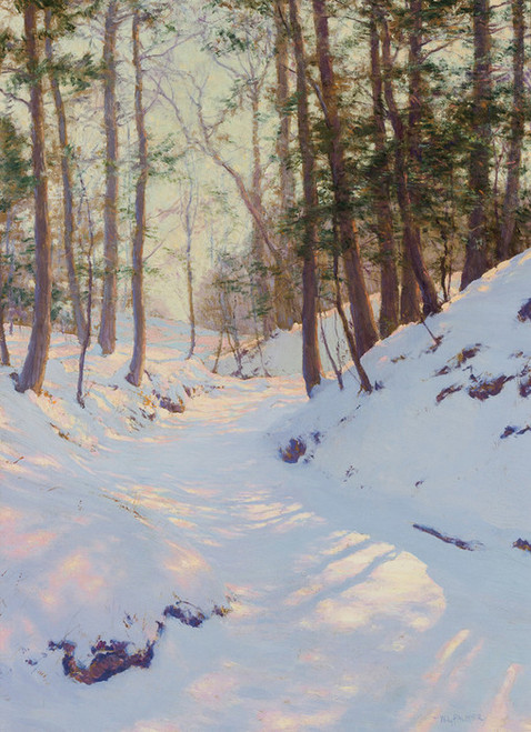Art Prints of Winter Shadows by Walter Launt Palmer