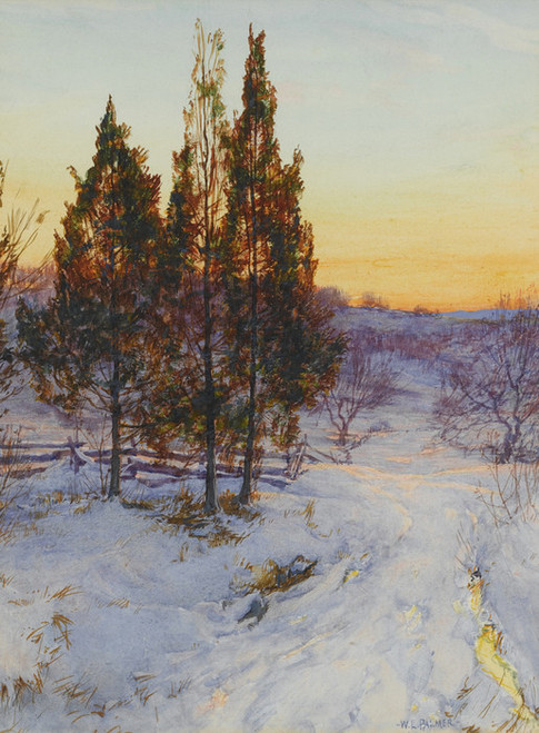 Art Prints of Cedars at Twilight by Walter Launt Palmer