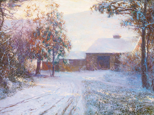 Art Prints of The Red Barn by Walter Launt Palmer