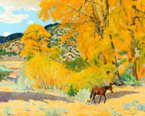 Art Prints of Autumn in Taos Canyon by Walter Ufer