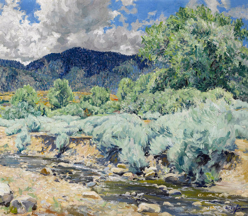 Art Prints of Greasewood, Santa Fe River by Walter Ufer