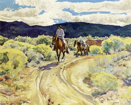 Art Prints of Indians on Horseback by Walter Ufer