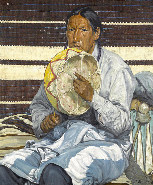 Art Prints of Indian Entertainer by Walter Ufer