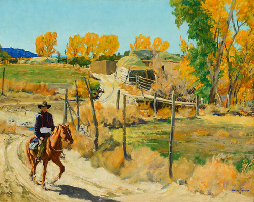 Art Prints of October Morning by Walter Ufer