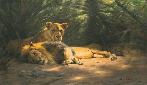 Art Prints of The Lions Den by Wilhelm Kuhnert
