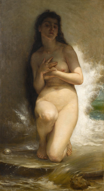 Art Prints of The Pearl by William Bouguereau