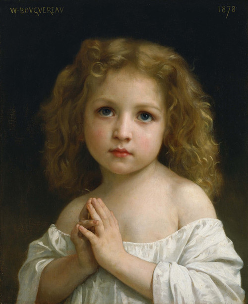 Art Prints of Little Girl by William Bouguereau