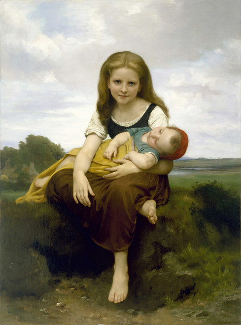 Art Prints of The Elder Sister by William Bouguereau