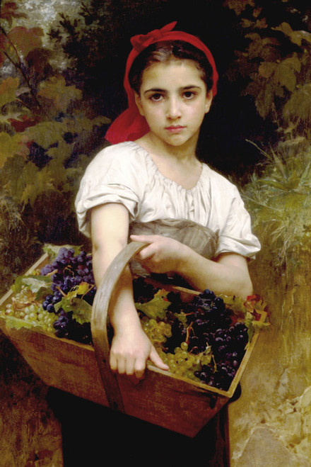 Art Prints of The Grape Pickers by William Bouguereau