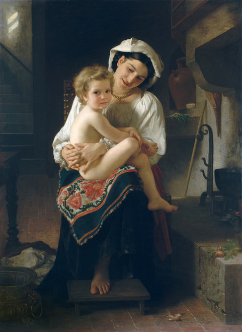 Art Prints of Young Mother Gazing at her Child by William Bouguereau