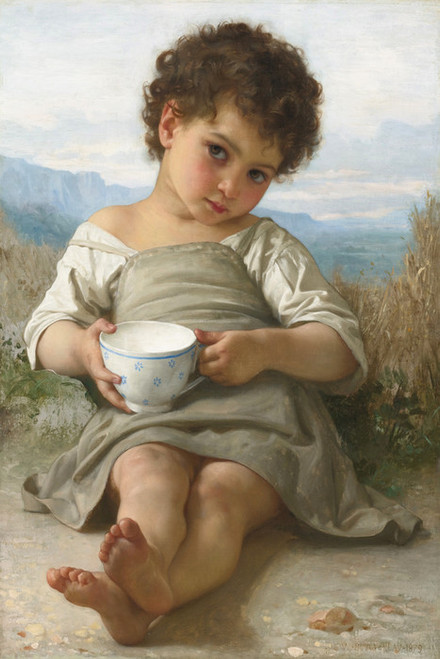 Art Prints of A Cup of Milk by William Bouguereau