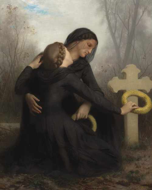 Art Prints of All Saint Day by William Bouguereau
