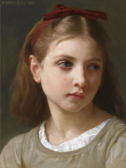 Art Prints of A Young Girl by William Bouguereau