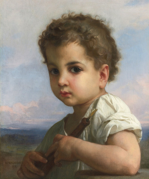 Art Prints of Flute Player by William Bouguereau