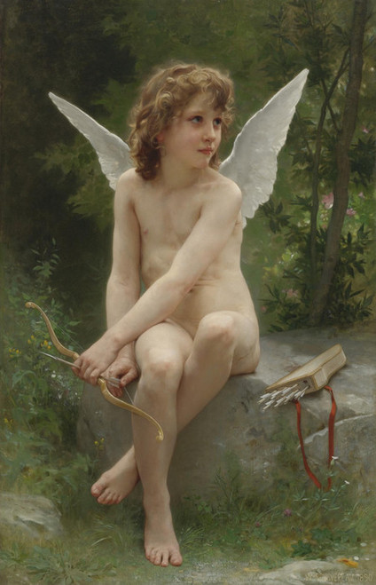 Art Prints of Love to Watch by William Bouguereau
