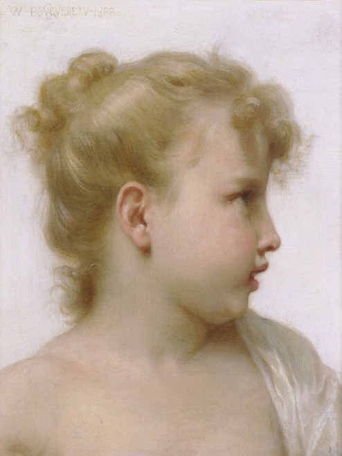 Art Prints of Head Study of a Little Girl by William Bouguereau
