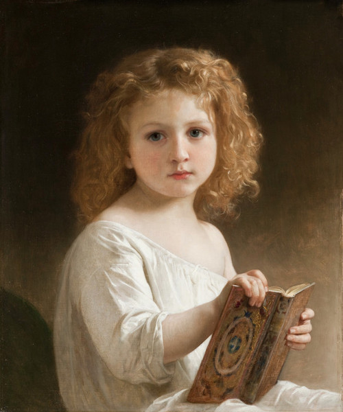 Art Prints of The Story Book by William Bouguereau