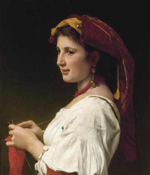 Art Prints of Tricoteuse by William Bouguereau
