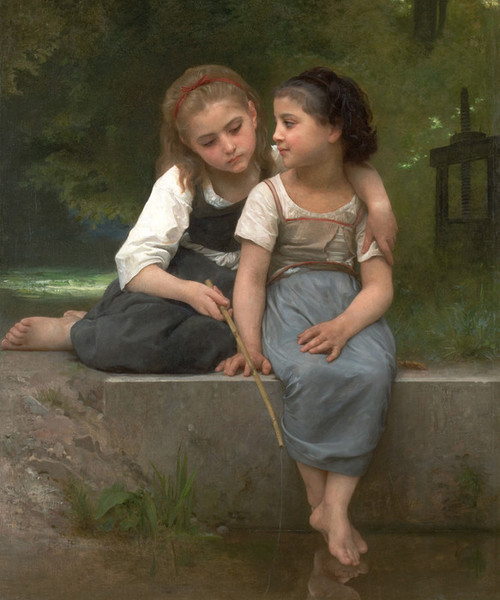 Art Prints of Fishing for frogs by William Bouguereau