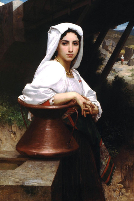 Art Prints of Italian Girl Drawing Water by William Bouguereau