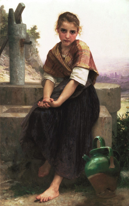 Art Prints of The Broken Pitcher by William Bouguereau