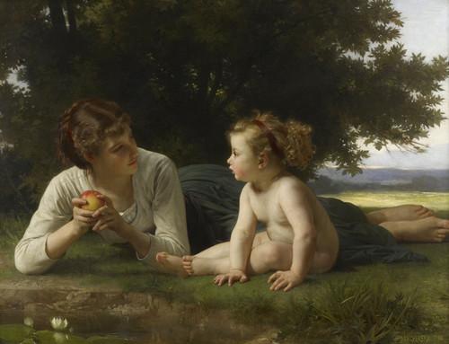 Art Prints of Temptation by William Bouguereau