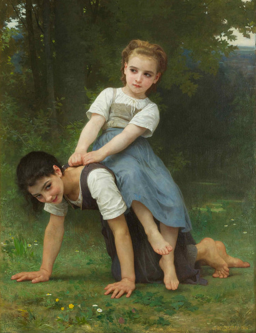 Art Prints of The Horseback Ride by William Bouguereau