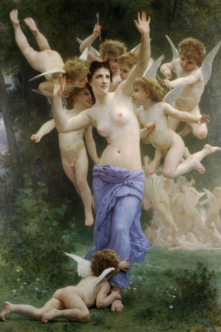 Art Prints of The Wasps Nest by William Bouguereau