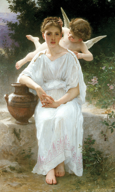 Art Prints of Whisperings of Love by William Bouguereau