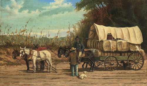 Art Prints of Cotton Wagon by William Aiken Walker