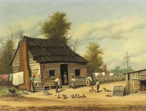 Art Prints of Cotton Pickers Cabin by William Aiken Walker