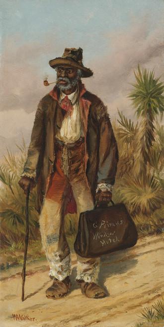 Art Prints of Man Walking by William Aiken Walker