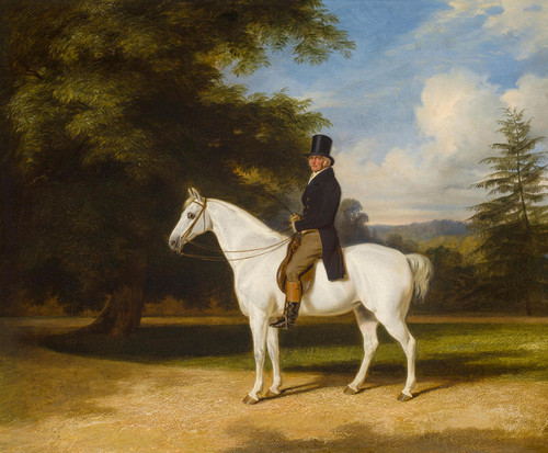 Art Prints of A Country Squire on His Grey Hunter by William Barraud