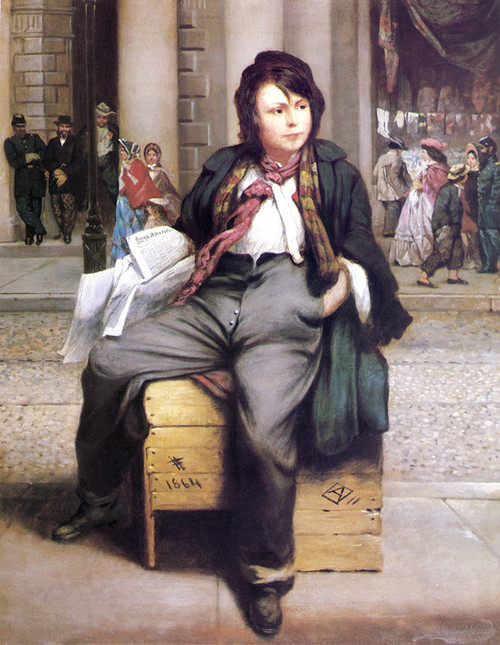 Art Prints of Newsboy by William E. Winner