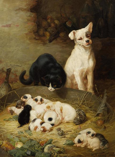 Art Prints of Fellow Feeling Makes Us Wondrous Kind by William Henry Hamilton Trood