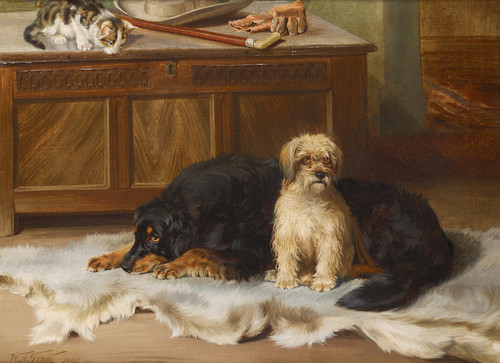 Art Prints of Waiting for Master by William Henry Hamilton Trood